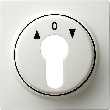 Gira 3-standen schakelaar inzetplaat/knop - crème wit (50351)