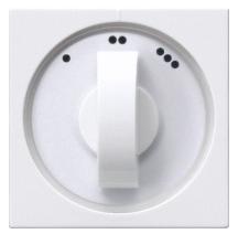 Gira 3-standen schakelaar inzetplaat/knop - zuiver wit glanzend (50451)