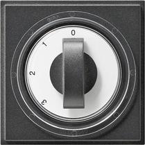 Gira TX_44 afdekking met draaiknop 3-standen antraciet