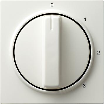 Gira S-color afdekking draaiknop 3-standen 0/1/2/3 zuiver wit (066940)