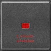 Gira TX_44 wip met controlevenster + C.V.-hoofdschakelaar antraciet