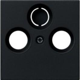 Gira centraalplaat CAI systeem 55 - zwart mat 0869005