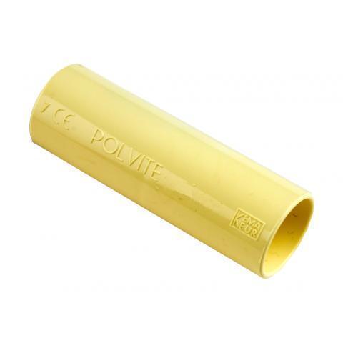 PIPELIFE sok installatiebuis 19 mm Polivolt creme per 50 stuks