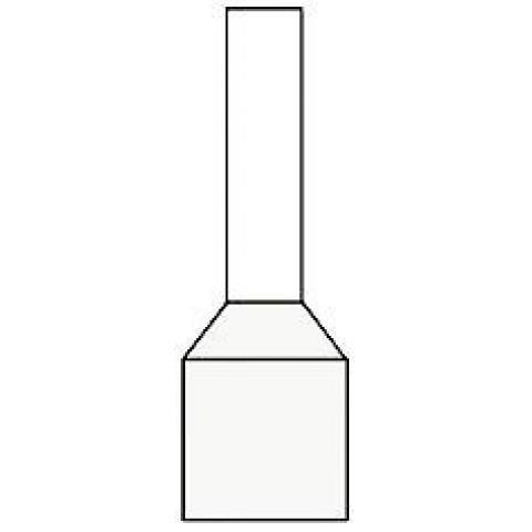 Newlec adereindhuls geïsoleerd 0,5 mm² wit - per 500 stuks