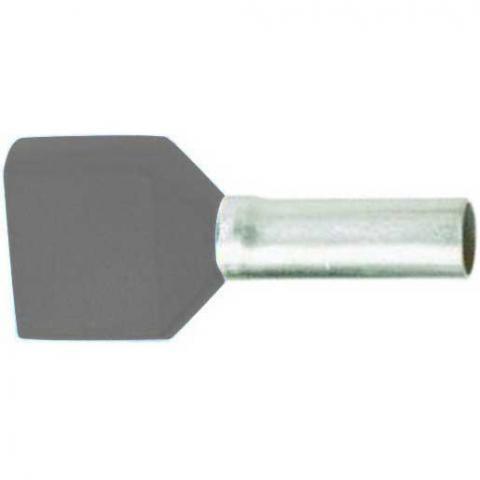 Newlec Twin adereindhuls geïsoleerd 2x0,75 mm² grijs - per 100 stuks
