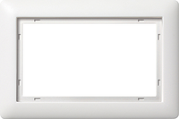 Gira Standaard 55 afdekraam 1,5-voudig  - zuiver wit mat (100104)