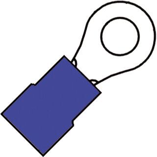 KLEMKO geïsoleerde ringkabelschoen M8 voor 1,5-2,5 mm² per 100 stuks