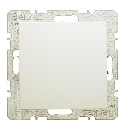 Hager Berker blindplaat - S.1 crème wit glanzend (10098982)