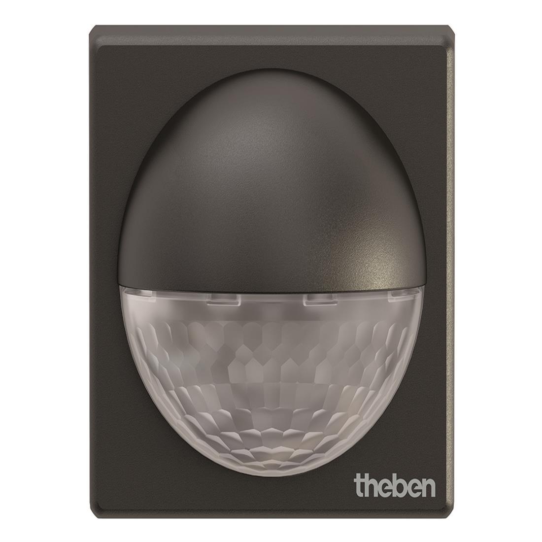 Theben bewegingsmelder buiten 180 graden en diameter reikwijdte 12 m - zwart (theLuxa R180 BK)