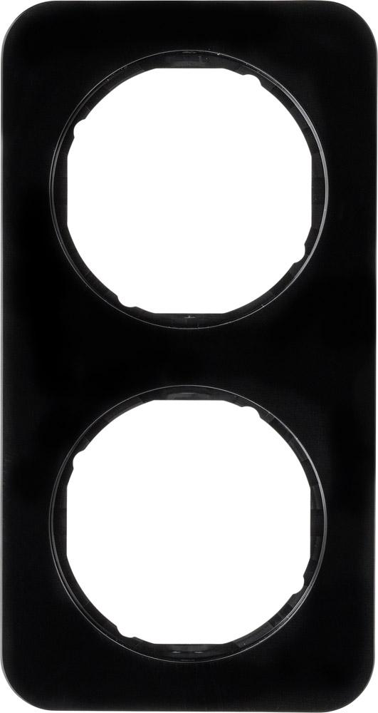 Hager Berker afdekraam 2 voudig - R.1 zwart (10122145)