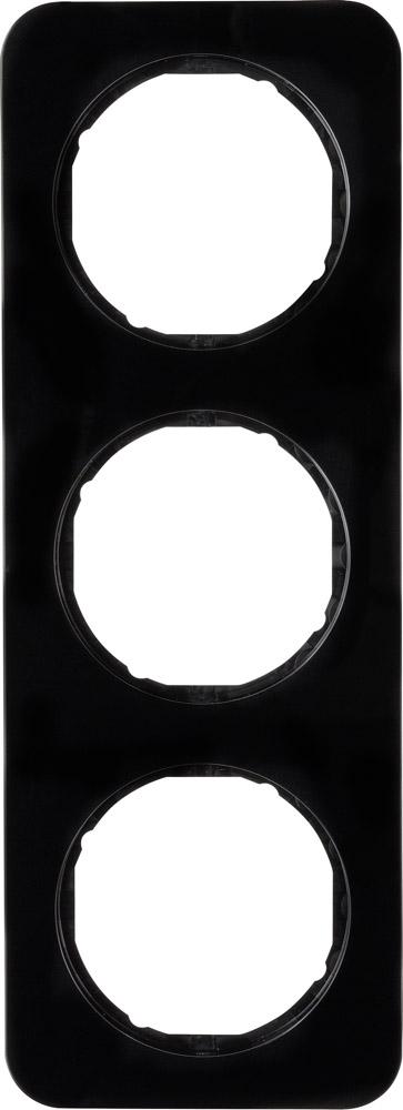 Hager Berker afdekraam 3 voudig - R.1 zwart (10132145)