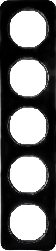 Hager Berker afdekraam 5 voudig - R.1 zwart (10152145)
