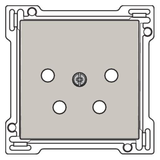 Niko original Afwerkingsset centraalplaat PTT KPN voor vierpolig basiselement telefoon (102-69010)