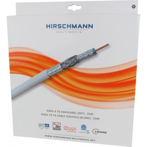 Hirschmann Multimedia KOKA 9 Eca coaxkabel TS 6.8 mm 4G/LTE proof wit 20 meter