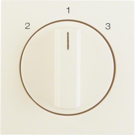 Hager 3 standen schakelaar/ventilatorschakelaar - S.1/B.3/B.7 creme wit glanzend (1084898200)