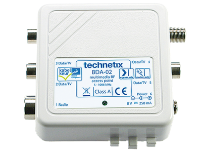 Technetix Antenne versterker opsteek met 3xtv 1xfm 1xmodem