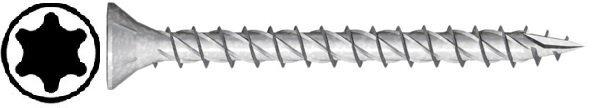 JET-FAST spaanplaatschroeven torx 6.0x70 mm - voldraad per 100 stuks (11306X70N)