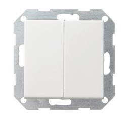 Gira drukvlakschakelaar serie - zuiver wit glanzend (012503)