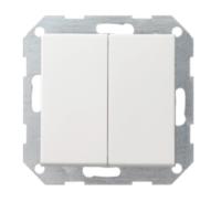 Gira drukvlakschakelaar serie - zuiver wit (012503)