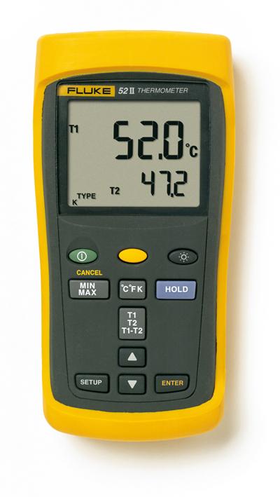 FLUKE Digitale thermometer 2 kanalen voor type J,K,T,E thermokoppels
