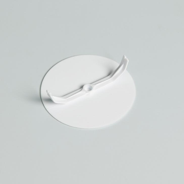 ATTEMA afdekplaat rond zelfklemmend wit 1331
