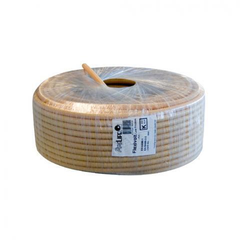 PIPELIFE Flexibele buis met extra gladde binnenlaag 19 mm creme - per rol 100 meter
