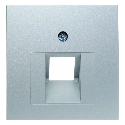 Berker centraalplaat voor 1 x UAE - S.1 aluminium (14071404)