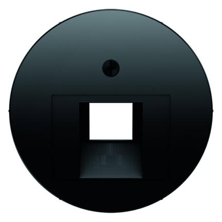 Hager Berker centraalplaat voor 1 x UAE - R.1 zwart (14072045)