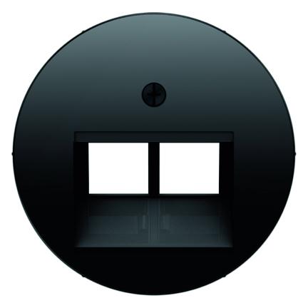 Hager Berker centraalplaat voor 2 x UAE - R.1 zwart (14092045)