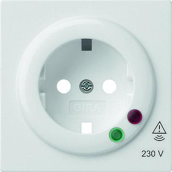 Gira S-color afdekking voor wandcontactdoos met overspanningsbeveiliging zuiver wit (144140)