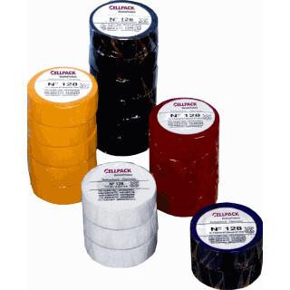 Cellpack isolatietape 128 groen/geel 9mmx25mx0,15mm 1 rol (145796)
