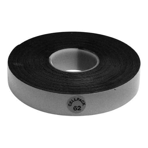 Cellpack tape 62 19mmx0,75mmx10m zwart (145908)
