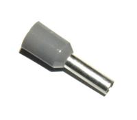 SOLAR Adereindhuls geisoleerd grijs 0,75mm2 per 100 stuks