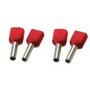 SOLAR Twin adereindhuls geisoleerd rood 2x1,0mm2 per 100 stuks