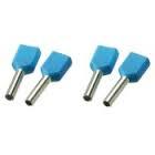 SOLAR Twin adereindhuls geisoleerd blauw 2x2,5mm2 per 100 stuks