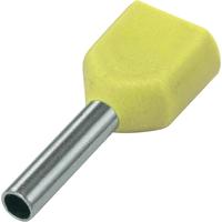 SOLAR Twin adereindhuls geisoleerd geel 2x6mm2 per 100 stuks