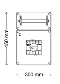 Verdeelinrichting 160A 12 modules