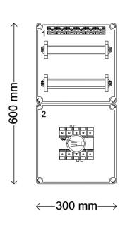 Verdeelinrichting 160A 24 modules