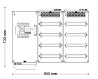 Verdeelinrichting 160A 96(2x48) modules
