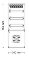 Verdeelinrichting 160A 36 modules