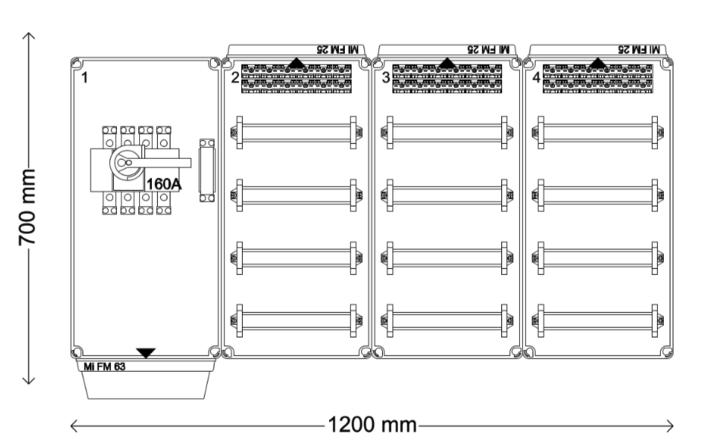 Verdeelinrichting 160A 144 modules