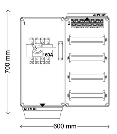 Verdeelinrichting 160A 48 modules 401172263