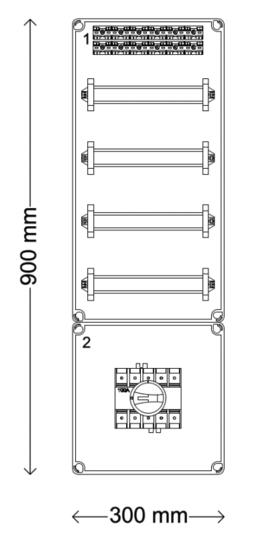 Verdeelinrichting 160A 48 modules