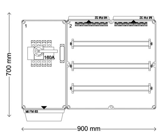 Verdeelinrichting 160A 96 modules