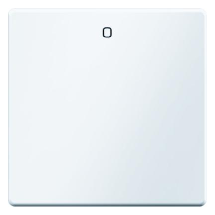 """Hager Berker Q.1/Q.3/Q.7 enkele bedieningswip met symbool """"0"""" - polarwit (16226089)"""