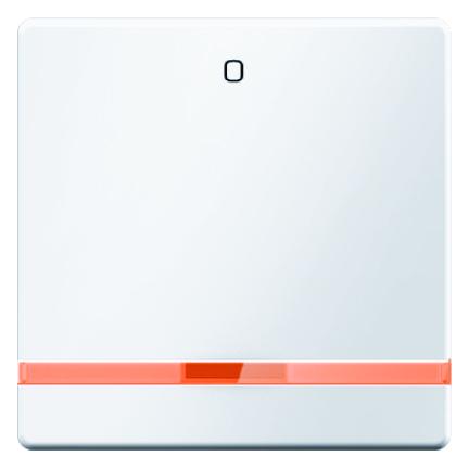 """Hager Berker Q.1/Q.3/Q.7 enkele bedieningswip met lens en symbool """"0"""" - polarwit (16246089)"""