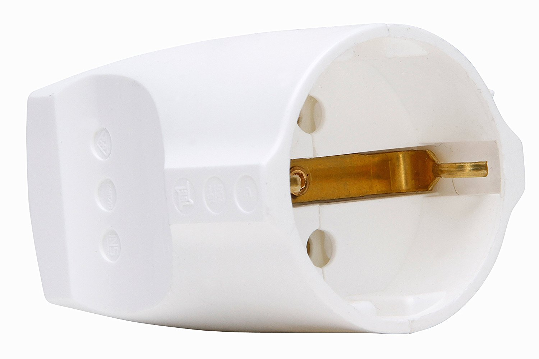 Kopp contrastekker 3x1,5mm 16/250V - helder wit