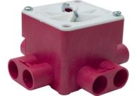 ABB Installatiedozen en -kasten brandwerende centraaldoos met deksel met haak (BWCV165B)