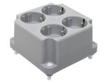 ABB HAF deksel met 4-voudig wandcontactdoos grijs (3640W4)