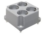 ABB HAF 3640W4 deksel 4-voudige wandcontactdoos grijs